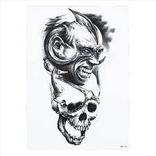 8ks Módní Pasta Papír Vodotěsné Dočasné Tetování Nálepka Lebka Orel