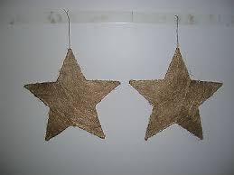 6 X Sterne Gold 30 Cm Weihnachten Fensterdekoration Stern