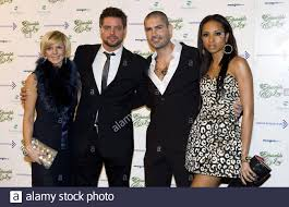 Lisa Duffy, Keith Duffy, Shane Lynch and wife Sheena Lynch arrive at the  Emeralds and Ivy