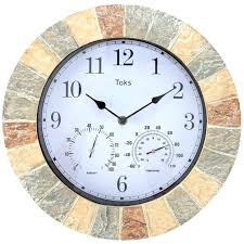 outdoor pool clock interior outdoor wall clock and thermometer pillows clearance world pa pool table channel outdoor pool clock