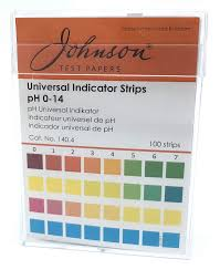 Non Bleed Ph Strips Johnson Test Papers