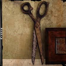 big sparkle two tone rustic scissors decorative saveenlarge vintage large over sized wooden scissors decorative wall art