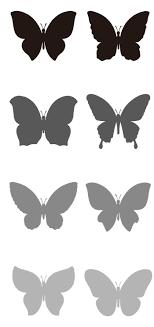 お洒落な蝶々の無料シルエットaiepsの無料イラストレーター素材なら