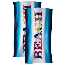 cool beach towels. Beach Word Towels Cool