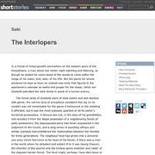 the interlopers essay essay academic writing service the interlopers essay