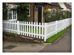 white primed picket fencing at frodsham gates and fencing cheshire