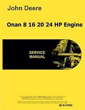 manual heavy equipment parts accessories for onan john deere onan 16 8 20 24 hp engine service manual