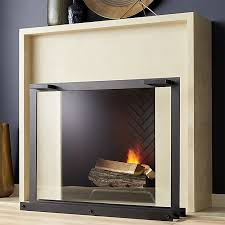 glass fireplace screen reviews crate and barrel intended for design 13