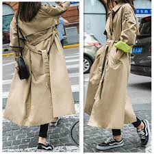 2019 uk brand new runway fashion 2018 fall autumn women casual simple solid embroidery trench coat with belt casaco feminino from insightlook