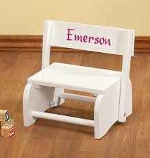 personalized white children s stepstool view 1