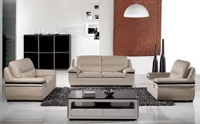 panda light grey leather sofa set