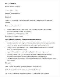automotive paint technician resume template laboratory technician resume sample