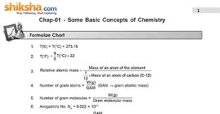 Important Chemistry Formula Chart Chemistry Important Formula Pdf Docdroid