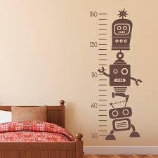 Ruler Growth Chart Vinyl Decal Us 3 85 30 Off Removable Robot Growth Chart Vinyl Wall Decals Kids Room Art Decor Stickers Height Measurement Ruler In Wall Stickers From Home