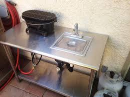 diy outdoor bbq sink