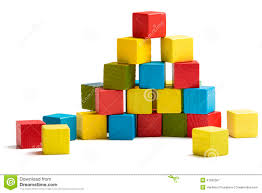 Wooden Brick Game Toy Blocks Pyramid Multicolor Wooden Bricks Stack Stock Image 85