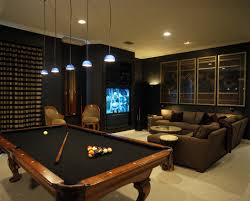 dark media room. Modern Media Room Dark With Pool Table More Caves