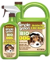 simple bio dog stain odor remover green outdoor pet eliminator cat 1 gal jug