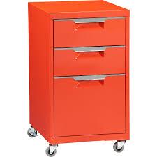 cb2 office. TPS Bright Orange File Cabinet In Office Furniture | CB2 Cb2