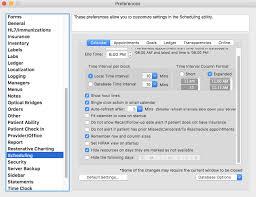 Online Office Calendar Preferences Scheduling Macpractice Helpdesk