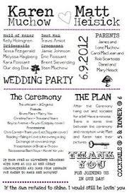 Fun Wedding Programs Creative Wedding Program Ideas Wedding Ideas