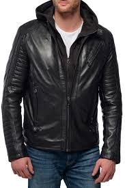 <b>Кожаная куртка Daytona</b> (Дайтона) арт KRILL HOOD ...