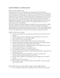 Best Solutions Of Sap Bw Consultant Resume Sample Simple Sample