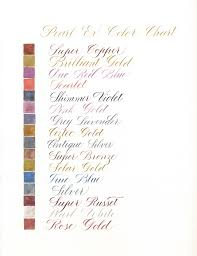 Fw Inks Colour Chart Color Calligraphy Ink Bokuju Calli Liquitex Acrylic