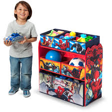 Marvel Bedroom Accessories Delta Children Marvel Spider Man Multi Bin Toy Organizer Walmartcom