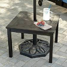 outdoor eucalyptus wood side end table