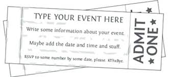 Printable Event Tickets Awesome Free Template Contemporary How To