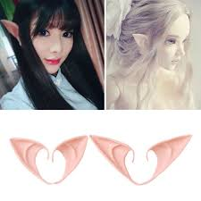 <b>1 Pair Latex Elf</b> Ears Pointed Cosplay Mask Halloween Masquerade ...