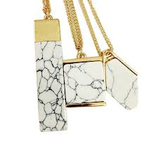 white marble faux stone pendant necklace jewelry 1463723247 377 jpg 1463723246 7032 jpg