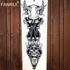 спартанцев воин Temporarty татуировки наклейки 48x17 см большой полные руки поддельные