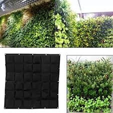 36 Pockets <b>Planting Bags Wall Hanging</b> Gardening Planter Outdoor ...