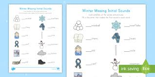 Seasons (spring, summer, autumn, winter), months, days, and weather (cloudy, sunny, rainy, windy. Winter Initial Sounds Activity Teacher Made
