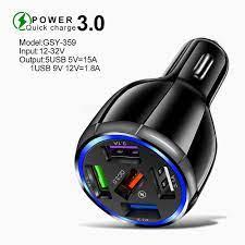 ĐÁNH GIÁ] Củ Sạc ô tô 5 USB 5V 15A - Bộ sạc ô tô QC3.0 5USB, sạc nhanh,Có  Đèn Led Đẹp, USB Kép, cốc sạc xe hơi, tẩu sạc điện thoại