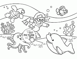 Small Picture Underwater Coloring Page For Kids Summer Coloring Pages