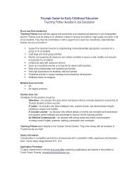 How To Write A Cover Letter For Early Childhood Education Resume Resume For Nursery Teacher