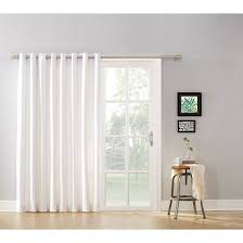 glass door. Mainstays Blackout Energy Efficient Extra Wide Sliding Glass Door Grommet Curtain Panel With Detachable Wand 2