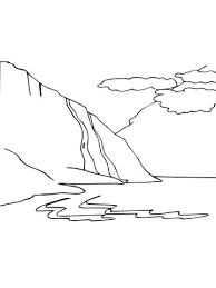 Noors Fjord Kleurplaat Gratis Kleurplaten Printen