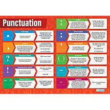 Punctuation English Posters Gloss Paper Measuring 850mm X 594mm A1 Language Classroom Posters Education Charts By Daydream Education
