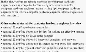 Resume 123 Org Free 64 Resume Samples Best Of Computer Hardware Engineer Resume Computer Hardware And Networking