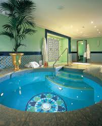 Wonderful Privat Indoor Swimming Pool Design With Ornamental ...