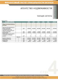 Финансовый расчет агентство недвижимости img