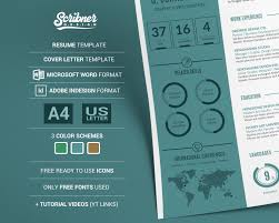 Creative Infographic Cv Template Resume Template Free Cover Letter In Microsoft Words And Indesign Plus Tutorial Video For Pc And Mac
