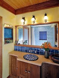Trendy Twist To A Timeless Color Scheme Bathrooms In Blue And Yellow - Yellow and white bathroom