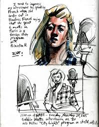 Live sketches at WABE radio today   LIVE ART, Oeuvres nouveau, NEUE KUNST