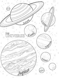 The Solar System Coloring Pages Klubfogyas