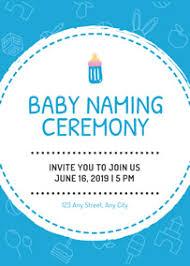 Make Naming Ceremony Invitation Cards Online For Free Fotojet